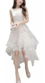 Vestido Fiesta/novia Blanco En Talla M Y L + Envío Gratis