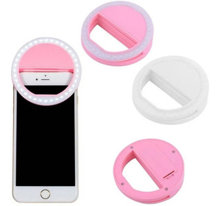 Selfie Led Self Ring Anel Luz Flash Para Celular Light Usb