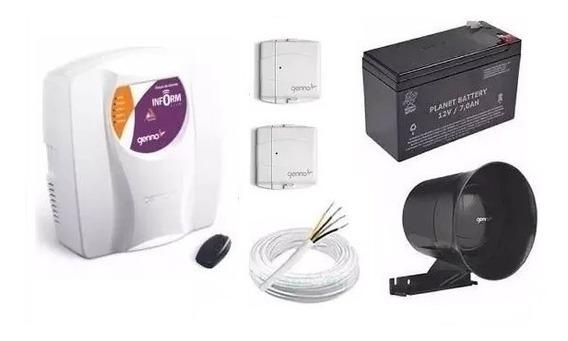 Kit Alarme Central Genno Slim C/ Sensor Magnético Sem Fio