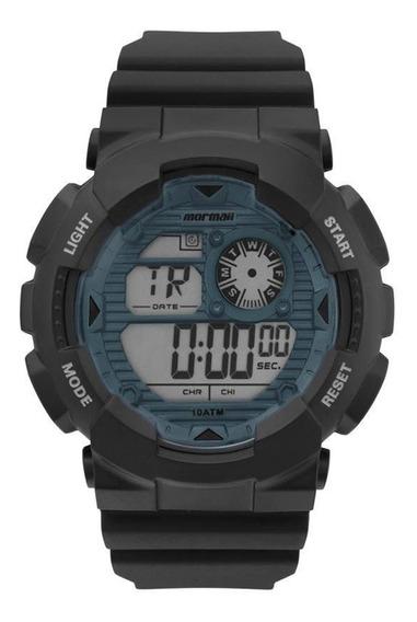 Relógio Mormaii Mo3415d8a Preto - Cor: Preto/verde - Tamanho