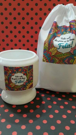 Mate Ceramica Con Bolsita Personalizado Sublimado!!!