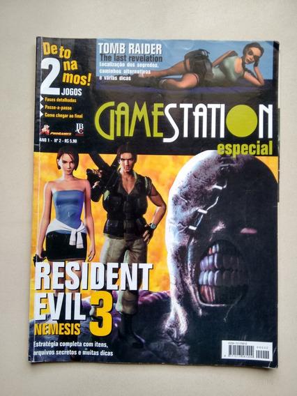 Revista Gamestation 2 Resident Evil 3 Nemesis Detonado D576