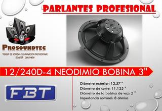 Parlante Fbt 12/240d-4 Neodimio Bobina 3