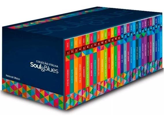 Box Coleção Folha Soul & Blues 30 Cds Livretos Originais