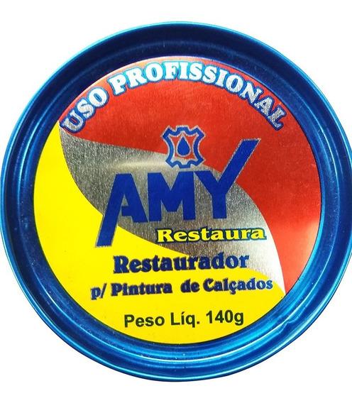 Graxa Restauradora De Sapatos Em Pasta Amy Profissional 140g