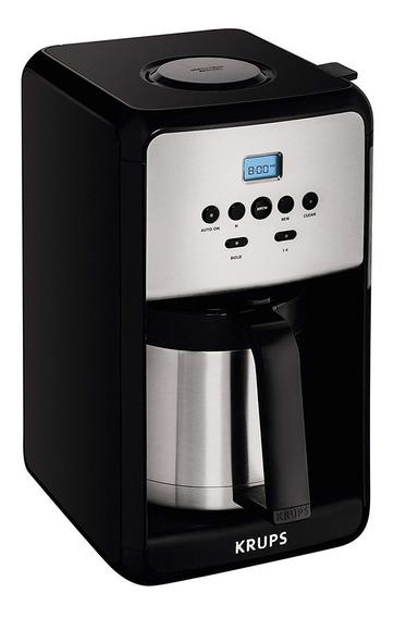 Cafetera De Goteo Krups Et351050 Savoy Programable 12 Tazas Led Digital