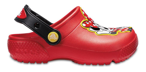 Crocs Originales Fun Lab Minnie Clog Rojo Nene Nena