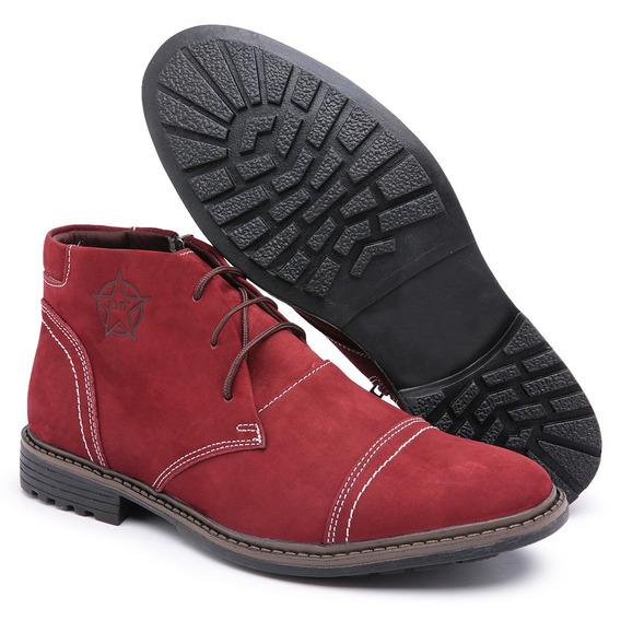 Bota Botina Masculino Sapato Cano Curto Frete Grátis Couro