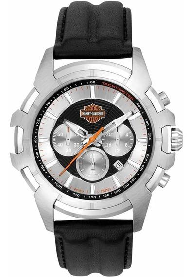 Relógio Masculino Bulova Harley Davidson Wh30279t Couro
