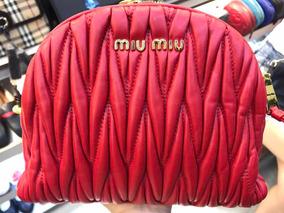 Bolsa Carteira Clutch Miumiu Inspired Vermelha