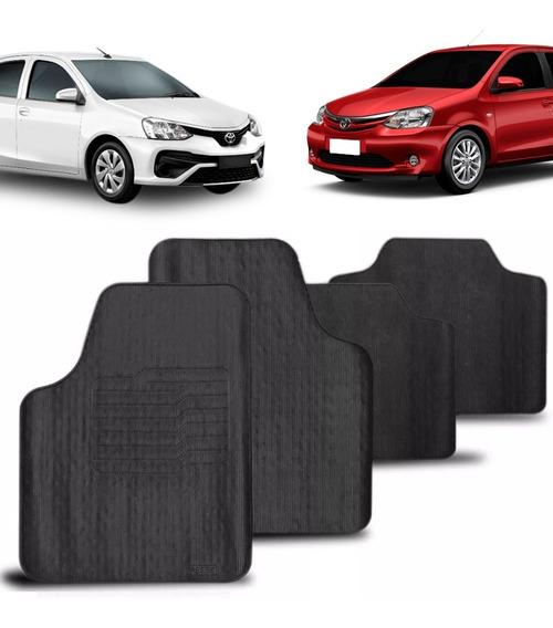 Tapete Toyota Etios Hatch & Sedan Jogo Emborrachado Ecologic