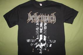 Gusanobass Playera Rock Metal Black Behemoth Cross Death L