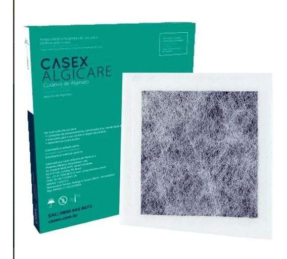 Casex Curativo De Carvão Ativado/ Prata 10,5x10,5cm (5unid)