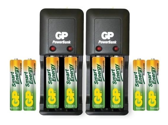 Cargador Gp Smart Con 8 Aaa 400mah Recargables