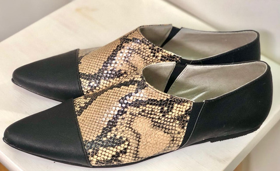 Zapato Mujer Mocasín Chato Combinado - Lynch - #1