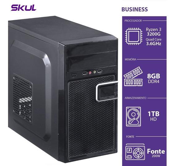 Computador Business B300 - R3-3200g 3.6ghz 8gb Ddr4 Hd 1tb H
