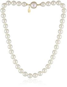 a2ead519b37a Majorica Collar De Perlas Simuladas Blancas De Una Hilera