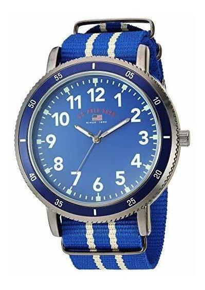 Reloj Para Hombre U.s. Polo Assn. Modelo: Us7008, Azul