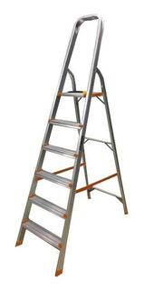Escalera Aluminio 6 Escalones Familiar Lusqtoff Esl169-76
