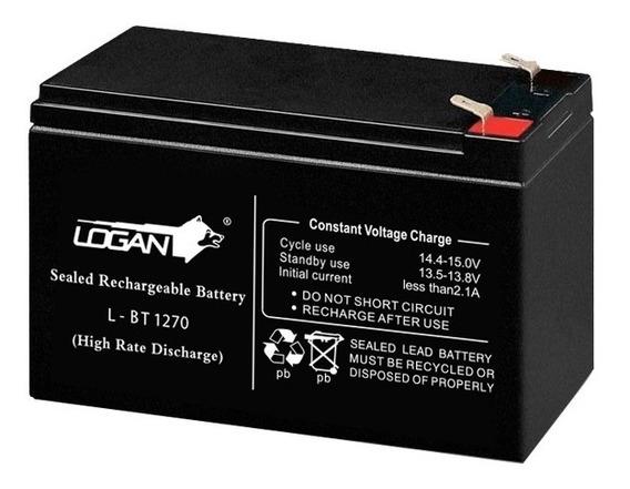 Batería 12v 7ah Recargable Ups Lampara Cerco Electrico