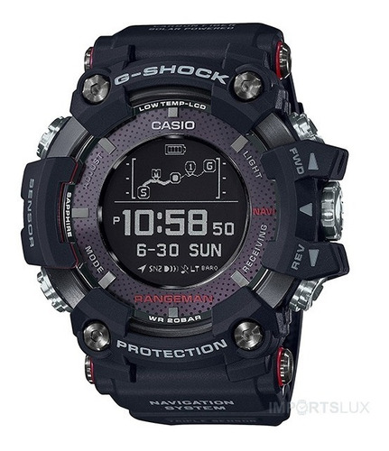 Imagem 1 de 8 de Relógio Casio G-shock Rangeman Solarassisted Gpr-b1000-1jr