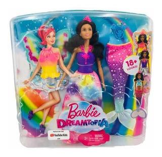 Barbie Sirena Dreamtopia Con Cambios De Ropa