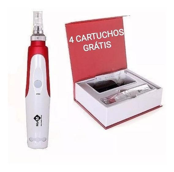 Dermapen Caneta Mod. C/ Regulagem Com 4 Cartuchos Cx Orignal