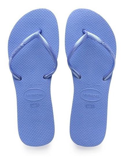 Sandália Havaianas Flat Azul Provence Modelo Fino Adulto