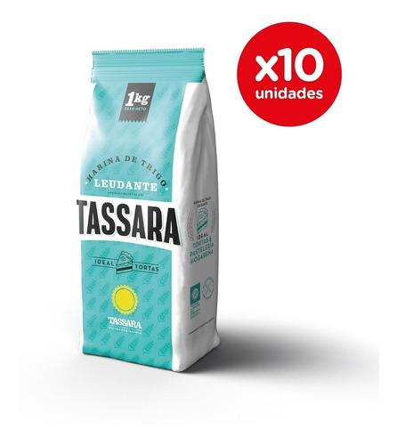 Harina De Trigo Leudante Pack 10 X 1 Kg Tassara Ideal Tortas