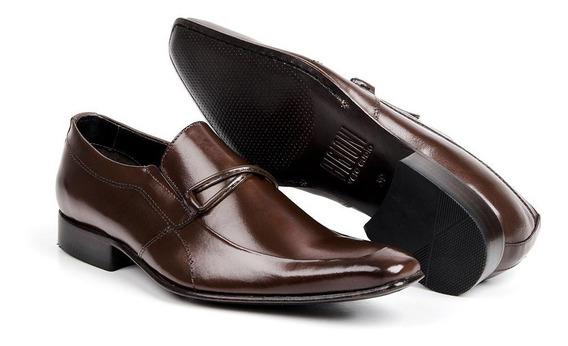 Sapato Social Masculino Couro Bico Fino Bigioni