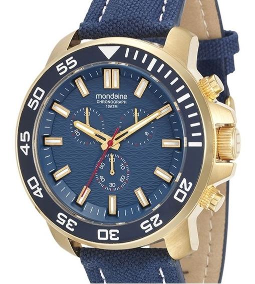 Relógio Masculino Mondaine Cronógrafo 100metros 53575gpmvdn1