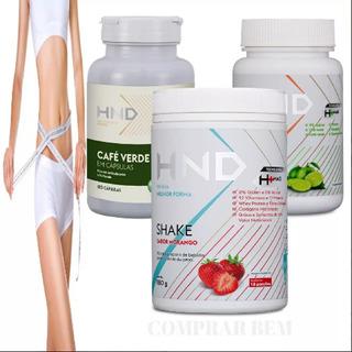 Shake + Chá + Café Verde Hnd Hinode Para Emagrecer Dieta