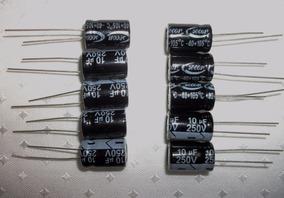 Capacitores Eletrolíticos(105º) Pct.10 Pçs-dvs. Valores