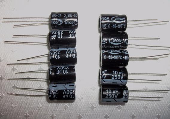 Capacitores Eletrolíticos(105º) Pacote C/10 Peças