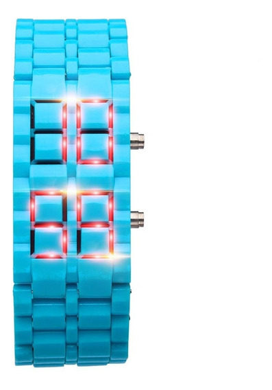 Reloj Led Iron Samurai Plastic Lava Style Unisex Digital