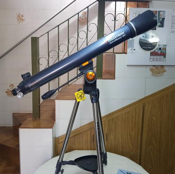 Telescópio 90mm F11 Refrator Acromátic Astromaster Celestron