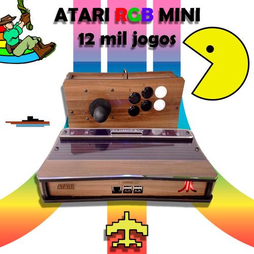 Imagem 1 de 4 de Atari Mini Rgb 12 Mil Jogos + Arcade Stick Usb