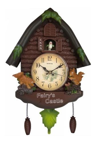Reloj De Pared Con Pájaro Cucú (sonido,movimiento) Y Péndulo