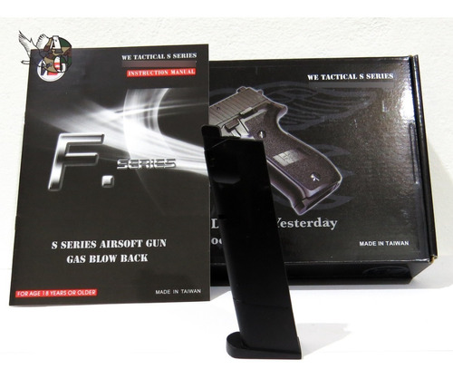 Imagen 1 de 2 de Cargador Pistola Airsoft F226 Negro Full Metal We