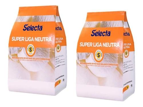 Kit 2 Selecta Liga Neutra 1kg Estabilizante Em Pó Sorvetes
