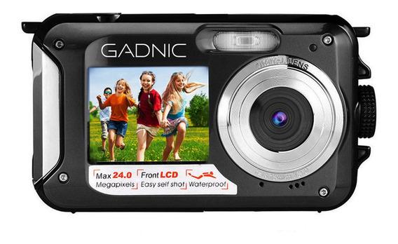 Camara Sumergible Gadnic 24mp 2.7 Doble Lcd + Selfie Stick