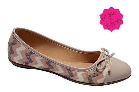 Sapato Sapatilha Alpargatas Feminina Tal Mãe Tal Filha Rosa