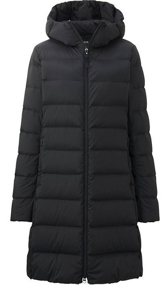 Tapado Uniqlo Ultra Light Down Stretch Coat Negro Nuevo