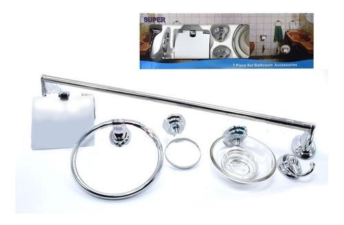 Accesorios Para Baño Toallero 7 Pcs - Electroimporta