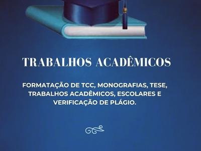 Formatação Tcc, Monografias, Trabalhos Acadêmicos, Etc.