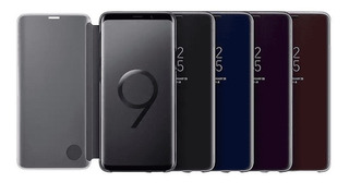 Funda Flip Cover Clear Standing Samsung Galaxy S9 S9+ Plus