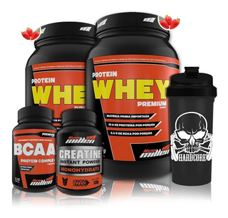 Kit 2x Whey Protein + Bcaa + Creatina New Millen