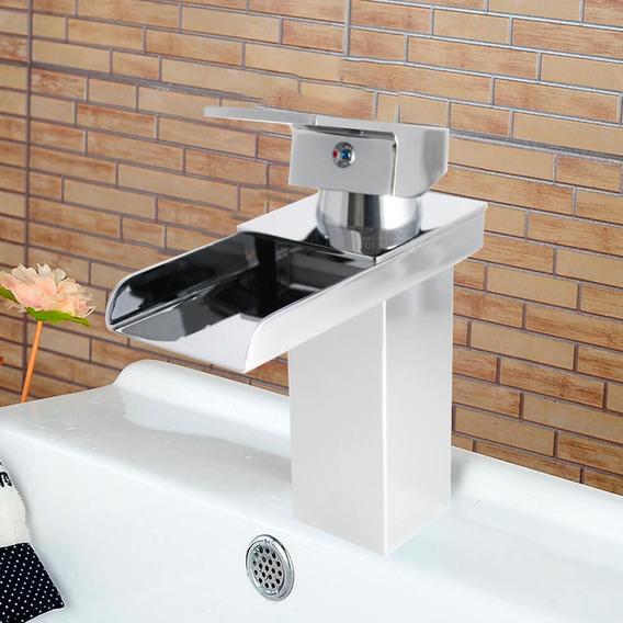 Torneira Cascata De Metal Monocomando Banheiro Baixa 1232