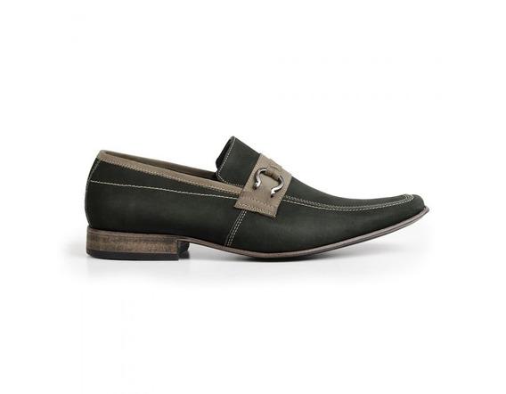 Sapato Mocassim Esporte Solado Em Couro