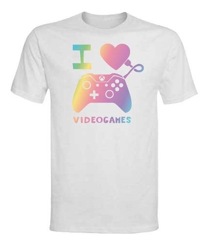 Polera I Love Game - Niña/niño/adulto - Colores - Regalo